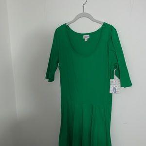 LULAROE - NWT Green Nicole Dress